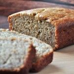 This may be the best banana bread recipe ever...plus add protein with greek yogurt and fiber with whole wheat flour and oat bran.