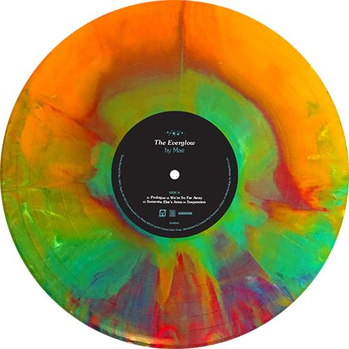 The Everglow, Album by Mae . LP1: Rainbow starburst, LP2: Purple/yellow/white starburst vinyl limited to 1,000 copies. Collection of unusual, rare vinyl and unique colored collectible records.