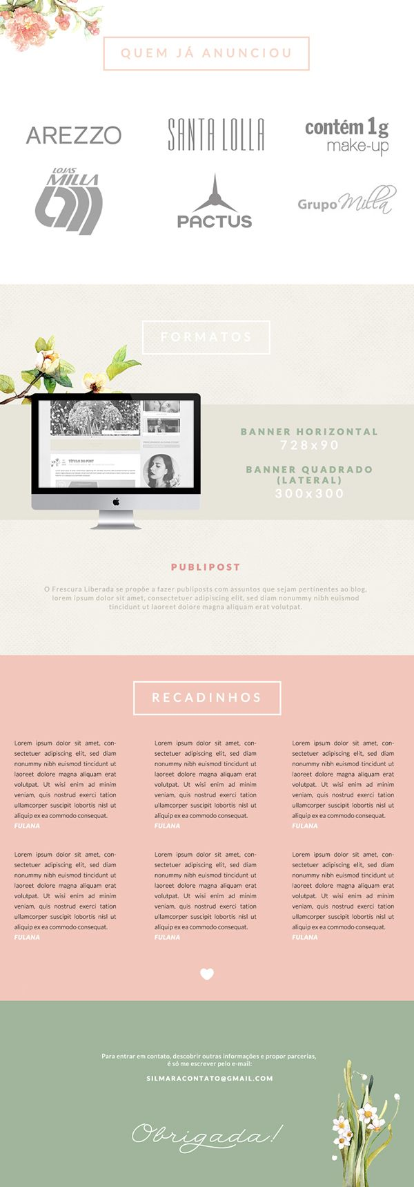 Layout: Frescura Liberada Blog on Behance