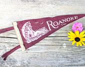Vintage Roanoke Virginia Mini Pennant Souvenir Bathing Suit Girl