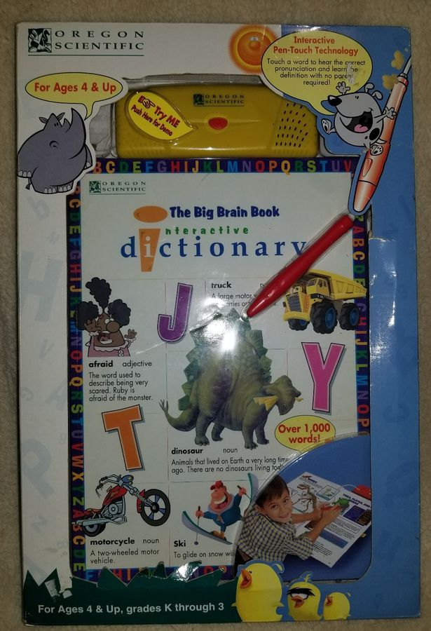 The Big Brain Book Interactive Educational Read Dictionary By Oregon