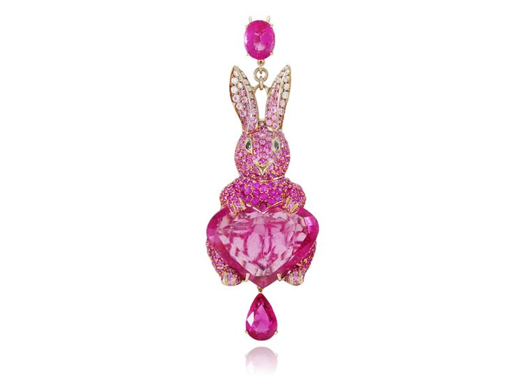 Lydia Courteille's  'Lapin Rose' Collection.