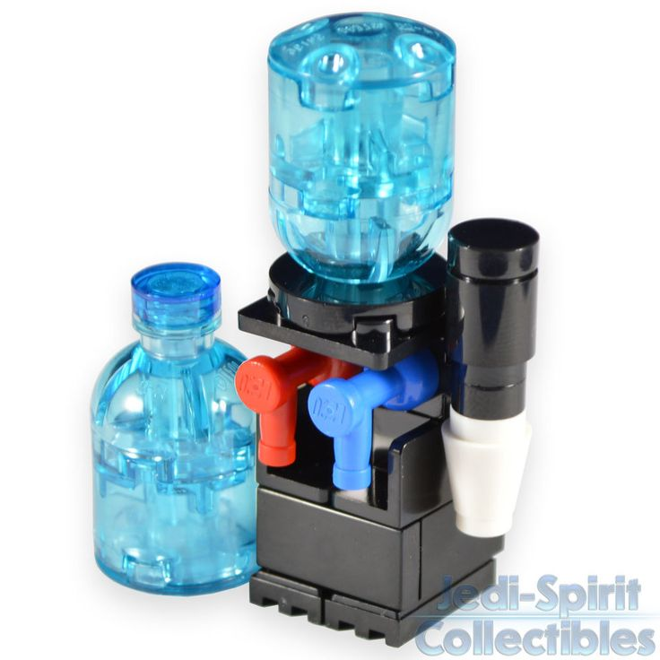 Lego Custom Creation - Water Cooler Dispenser & Extra Water Bottle *NEW* #LEGO