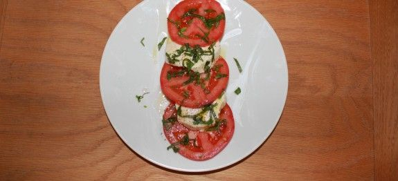 Tomato and Silken Tofu Caprese Salad