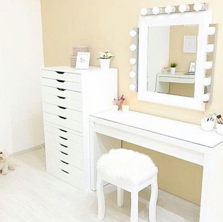Best 25 ikea dressing table ideas on pinterest dressing for Vanity table with drawers no mirror