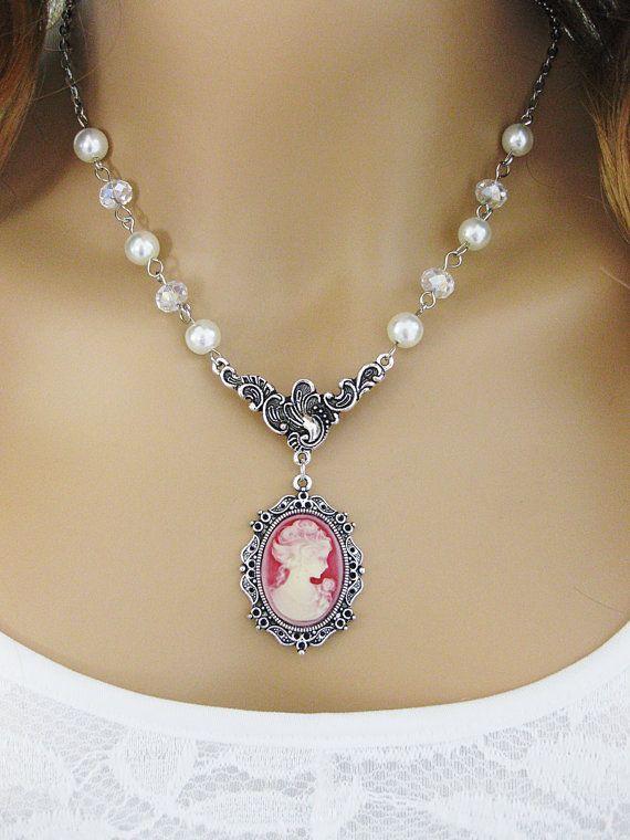Cameo Necklace Cameo Necklaces Victorian Lady by RalstonOriginals