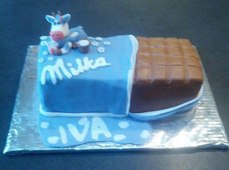 Milka chocolate bar cake