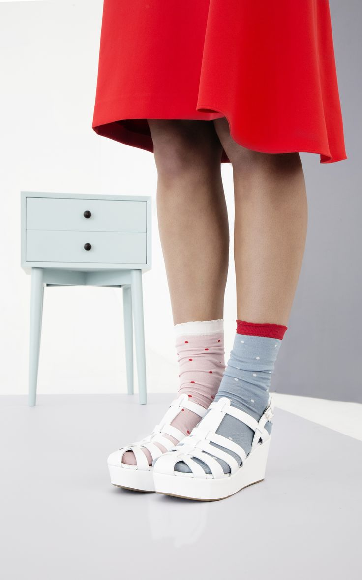 Add quirky detail with mismatched socks
