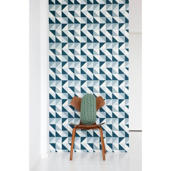 Remix Behang - Ferm Living  behangpapier slaapkamer