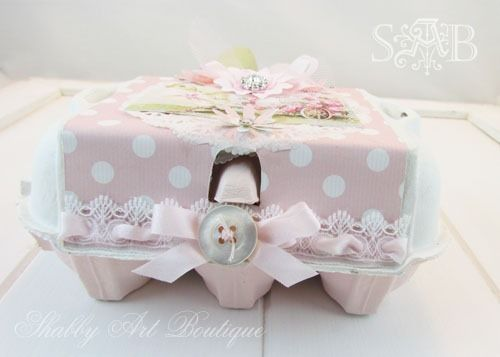 Shabby Art Boutique: Pink and shabby Easter gift giving