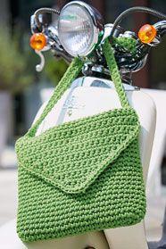 dámská letní háčkovaná taška s klopou z příze Anya
