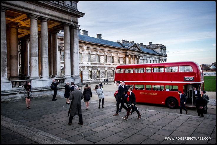London Bus at Painted Hall, Old Royal Naval College - a superb venue in London