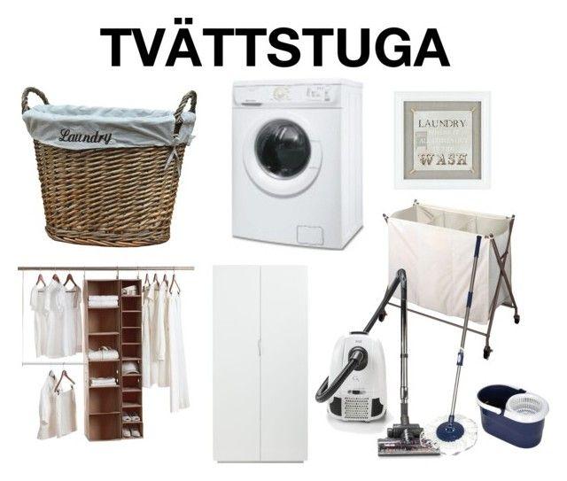 """Tvättstuga (Laundry Room)"" by caaaazz ❤ liked on Polyvore featuring interior, interiors, interior design, home, home decor, interior decorating, Laundry, Electrolux, Neatfreak and CB2"