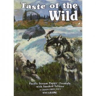 Taste of the Wild Puppy Pacific pienso para perros. Pienso para perros: Taste of the Wild Puppy Pacific. Alimento / Comida para perros indicada para perros cachorros de todas las razas y tamaños. Ingrediente principal: Salmón. En Petclic ahorras mas de un 35% en todas tus compras de piensos y alimentación para perros Todas las garantías. Toda la seguridad que necesitas y mas de 5.000 productos de alimentación rebajados. www.petclic.es