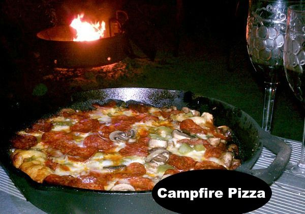 Campfire Dutch Oven Pizza Mmmm, and I'm not even really a pizza fan!