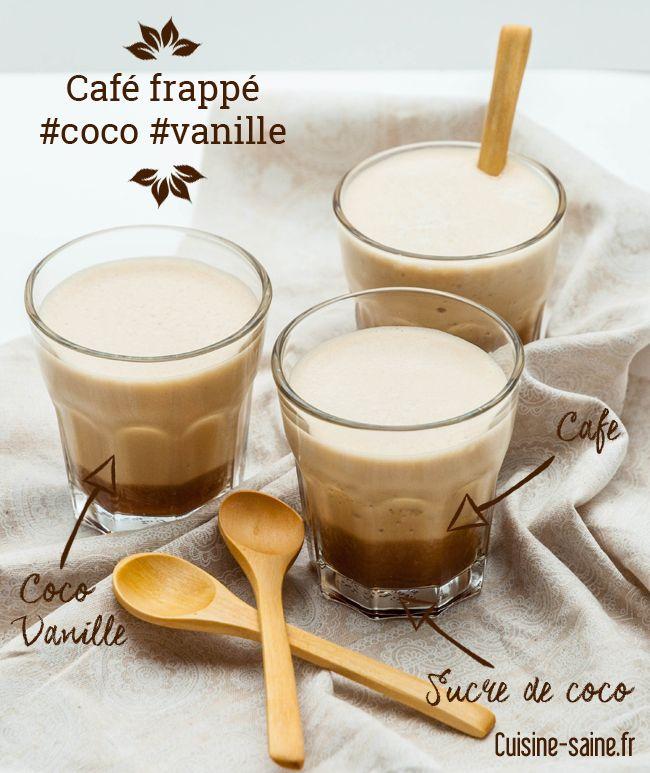Après le thé glacé, le café frappé ! Avec une petite pointe de douceur la coco et la vanille, un moment tranquille pour profiter de la chaleur estivale.