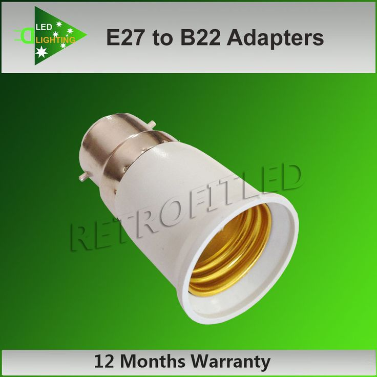 Screw to bayonet Socket Light Bulb Lamp Holder Adapters Plug  - E27 to B22