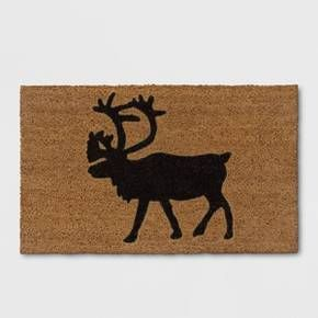 If you're looking for an outdoor rug that matches your northwoods or rustic decor, then you'll love the Moose Accent Rug from Threshold . This moose accent rug features a silhouette of one of the northwoods' most iconic animals for a simple and clean design. This accent rug pairs functionality with style perfectly — it features a coir construction that helps keep dirt and debris outside, so your home stays clean and tidy on the inside.