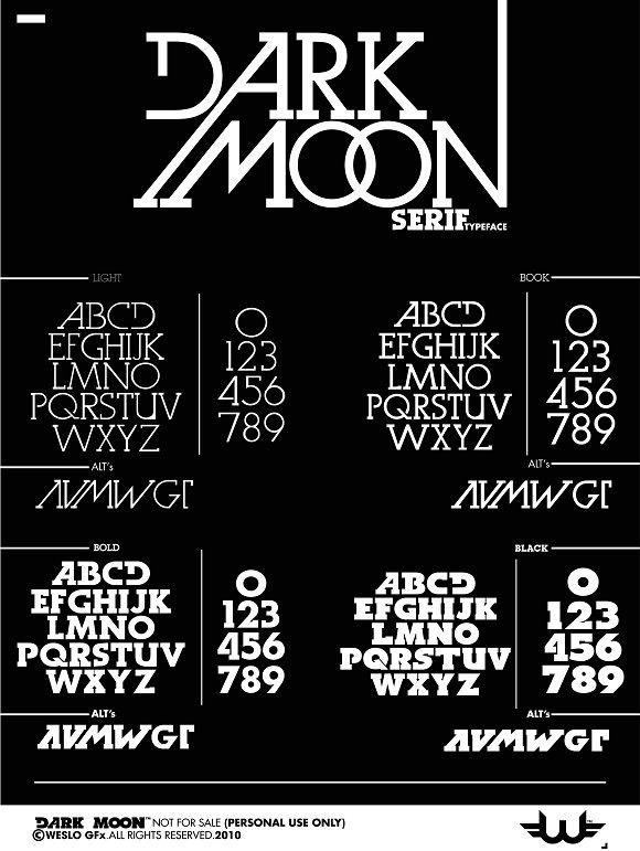 dbc4bc96c Dark Moon Serif Typeface. Urban Fonts | Urban Fonts | Serif typeface ...