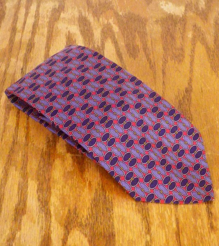 "NWOT vtg Brooks Brothers Navy/Gray/Red Geometric Men's Silk Tie Necktie 60"" 3.5"" #BrooksBrothers #Tie"