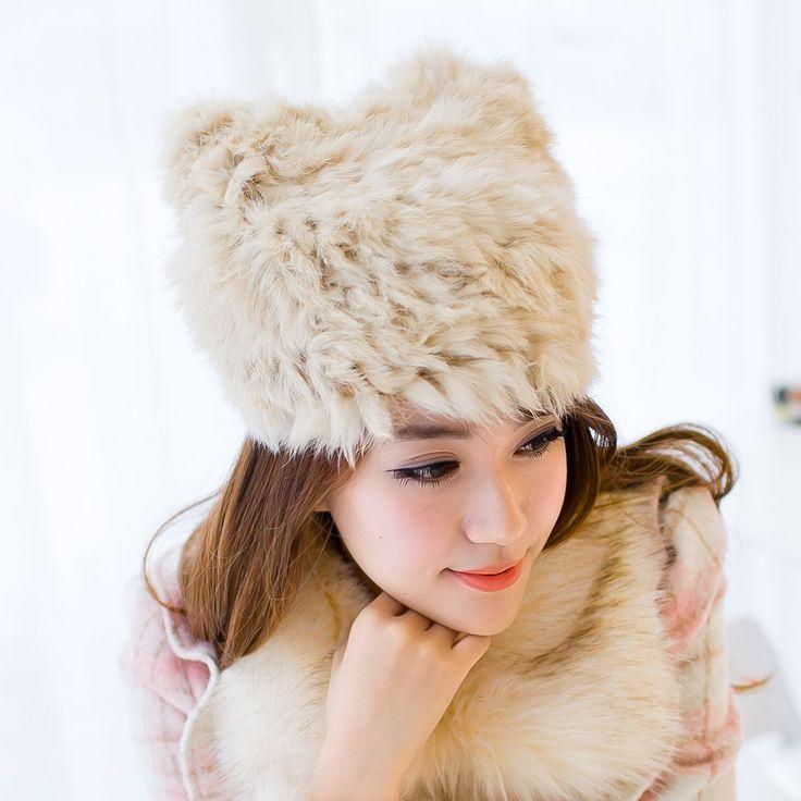 Купить товарКот уха кролика волосы Шляпа Леди прекрасный Корейский зимняя шапочка набор шерсти теплые наушники Баотоу 677888 в категории  на AliExpress.      & #9679; название Продукта: кошачьи уши кролика шляпу Г-Жа Хан издание прекрасный водолазка шапка шерсть зимой,