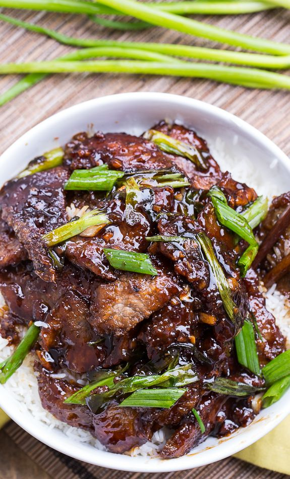 Mongolian Beef (PF Changs copycat). So easy to make and tastes even better than the real thing! @FMSCLiving