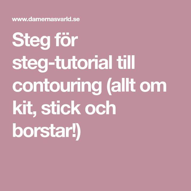 Steg för steg-tutorial till contouring (allt om kit, stick och borstar!)
