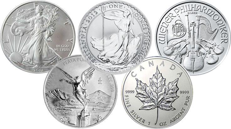 1 Troy Ounce Silver Coins (USA/UK/Austria/Mexico/Canada)