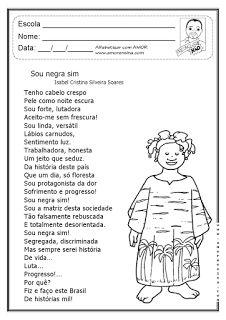 Alfabetizar com AMOR: SOU NEGRA SIM! TRABALHANDO PRECONCEITO - 4º ANO / 5º ANO