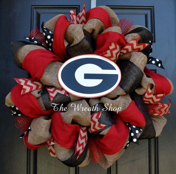University of Georgia Wreath  Georgia by CreationsbySaraJane, $99.00