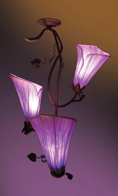 Calla Lily Triple Light Pendant Fixture