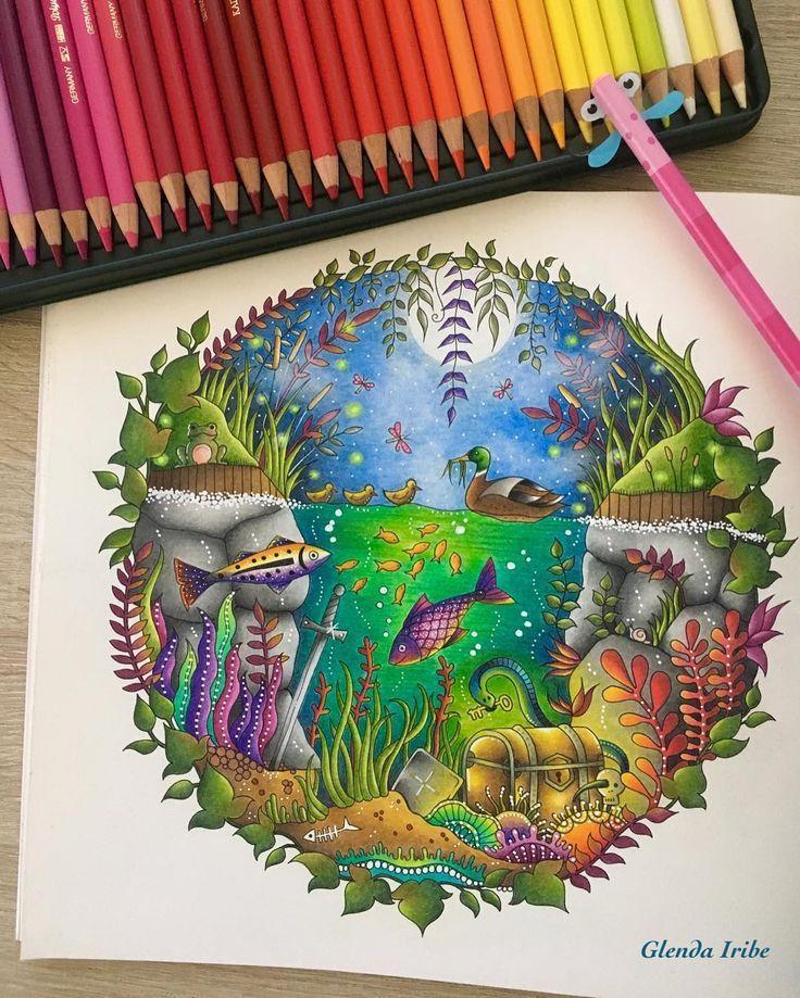 Enchanted Forest De Johanna Basford Faber Castell Polychromos Y