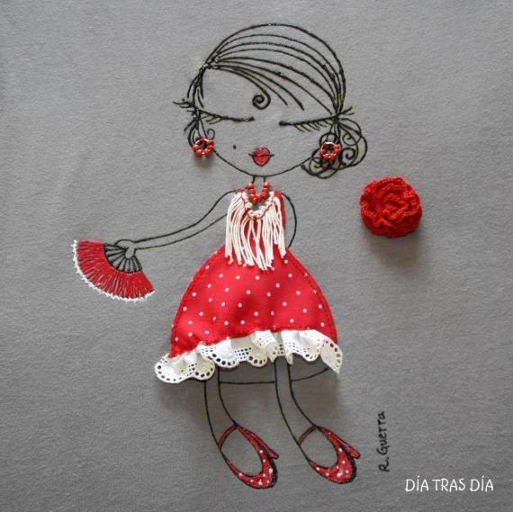 Ro-ro flamenca 001 / Día tras Día - Artesanio, Olé, I love this design!