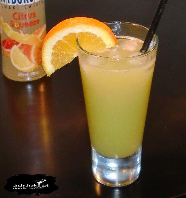 Kolczasty cytrus – ciekawe połączenie wódki smakowej (cytrusowej) i mojego ulubionego soku do drinków, czyli soku z kaktusa.