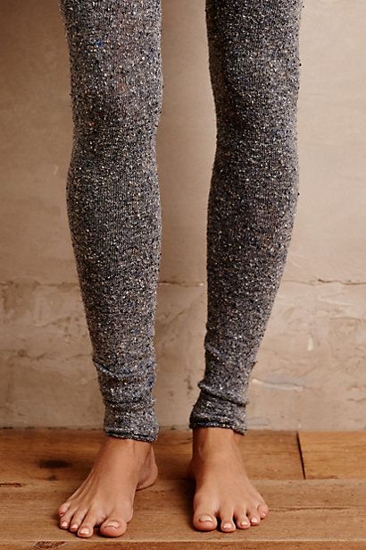 Nubby Footless Tights #anthropologie