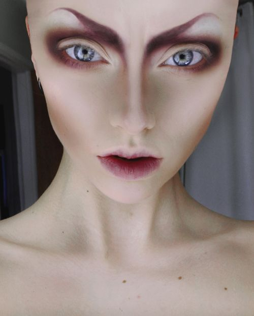 Beautiful alien makeup.