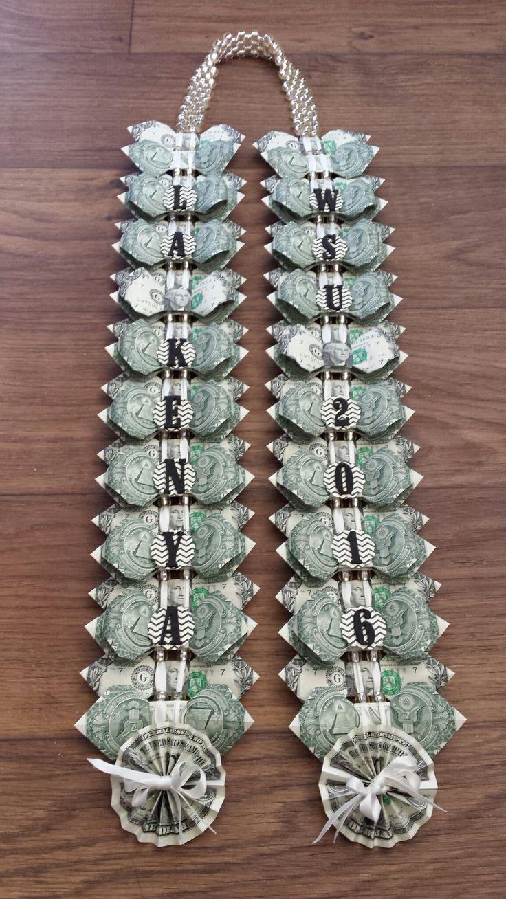 black & ivory open money lei | money leis | Money lei ...