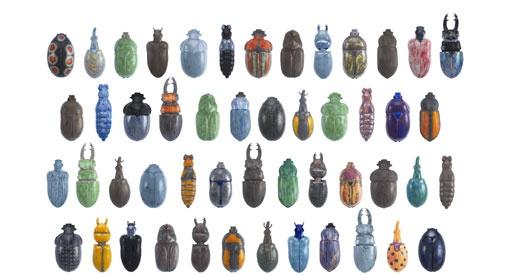 Ontwerpers Beate Reinheimer en Ulrike Rehm (RaR) tonen de scherpe contouren en diverse kleurenpracht van deze insecten. Een tentoonstelling die de bezoeker aan het denken zet.   De wandinstallatie 'Schwarm' (zwerm) is ontstaan uit de fascinatie die kunstenaarsduo RaR heeft voor natuurhistorische verzamelingen. De kunstenaars besloten een tiental kevers te vervaardigen van porselein. Het duo creëerde ook gefantaseerde kevers.