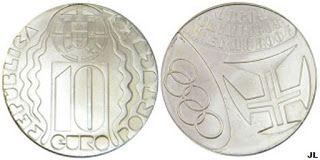 Moedas de Euro emitidas por Portugal: Jogos olímpicos de Atenas - Valor € 10.00