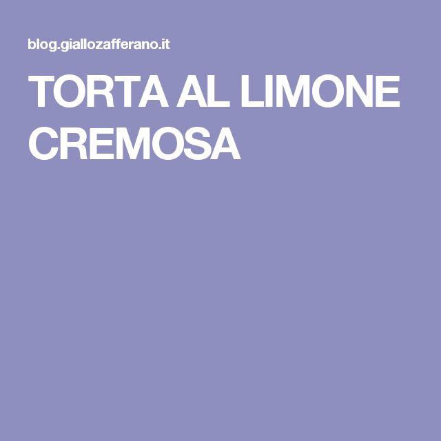 TORTA AL LIMONE CREMOSA