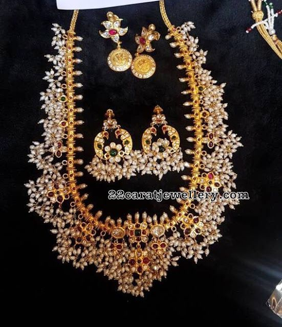 Medium Size Silver Guttapusalu Sets - Jewellery Designs