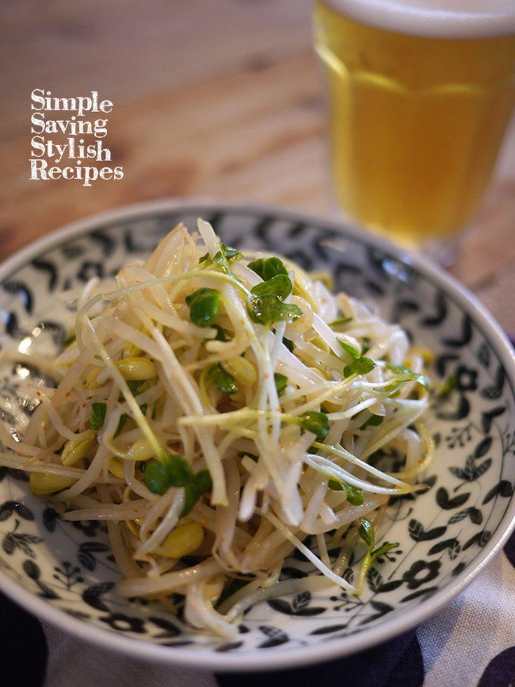 レンチンで簡単にできる!もやしのナムルの作り方 by SHIMA / レンチンで簡単 節約おかず もやしのナムル節約食材もやしをおいしいナムルに大変身!ラーメンのトピングやおつまみにもオススメです / Nadia