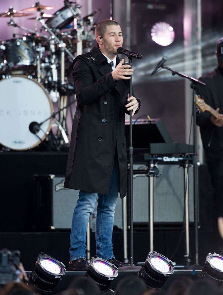 April 2016: Nick Jonas promotes his new album with a stylish performance on Jimmy Kimmel Live.