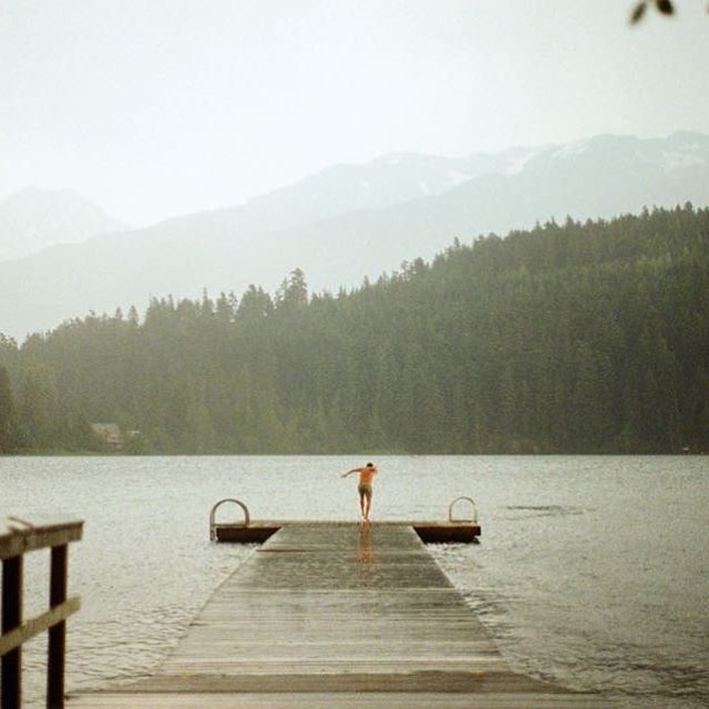 Lost Lake nudie dock ------------------------------------------ Photo courtesy of Destination Canada #mywhistler #rainydays #lakelife #lostlake @rmwhistler #travelgram #whistler #seetheworld #wanderlust #travelingram #beautifulbc #dock #nudiedock #seatosky #mountainlife #jump #ridebooker #whistlershuttle #whistlerunfiltered
