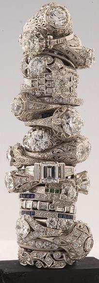 Barkers antique vintage diamond rings.