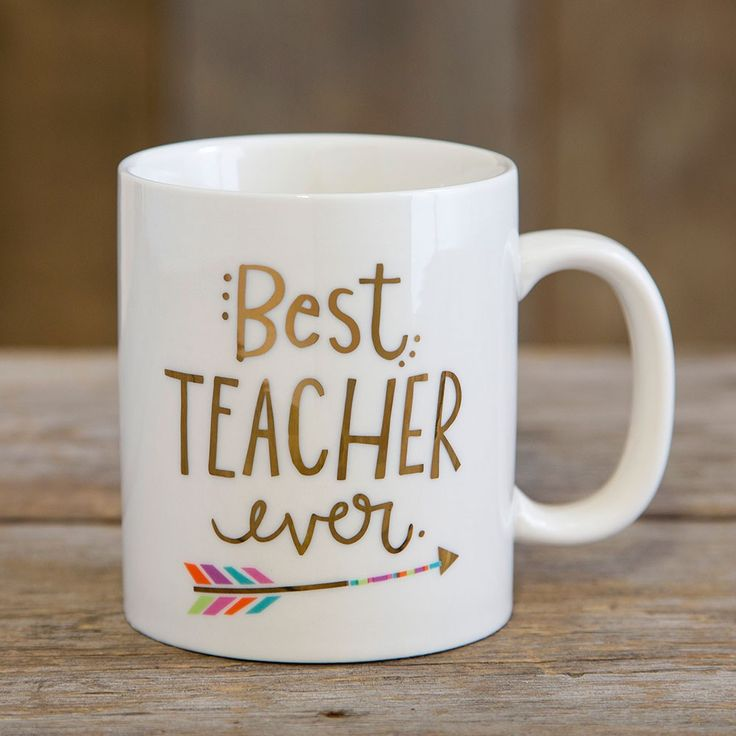 Teacher Best Ever Mugs - These mugs are really the BEST EVER! Show your favorite teachers how loved they are with this sweet, 12oz ceramic mug with gold metallic printing.