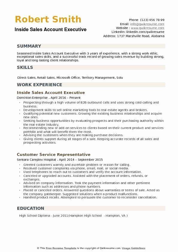 Inside Sales Job Description Resume Beautiful Inside Sales Account Executive Resume Samples In 2020 Middle School Teachers Teacher Resume Teacher Resume Template