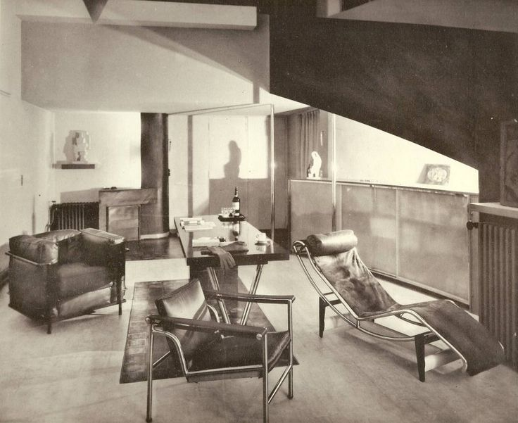 Paris Interior From 1920s Featuring Furniture From Le Corbusier Pierre Jeanneret And Charlotte
