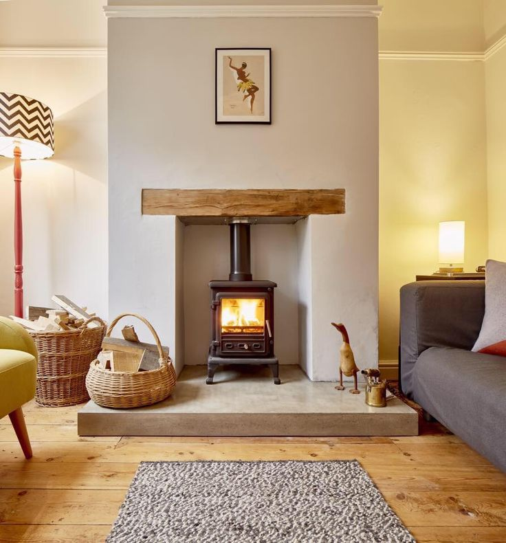 Polished concrete hearth. http://www.warringtonandrose.co.uk/