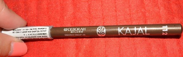 Deborah Milano, Kajal Pencil, 112, review, smooth, creamy texture, can be used as eyeshadow, no stinging on waterline, affordable